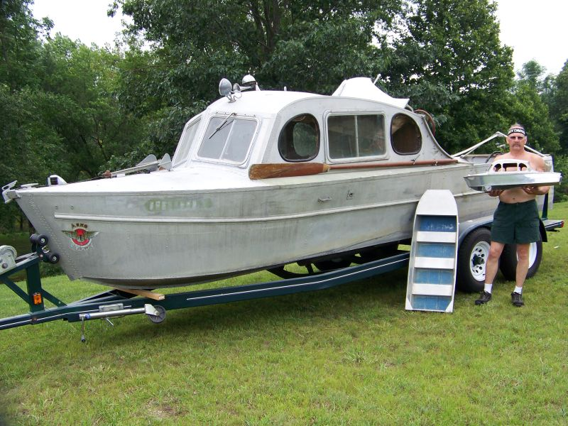 Aluminum vintage aluminum boats for Aluminum boat with cabin for sale