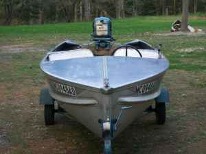 1956 14ft Aerocraft Runabout Evinrude Big Twin New Impellor Replaced Coils Excellent Condition