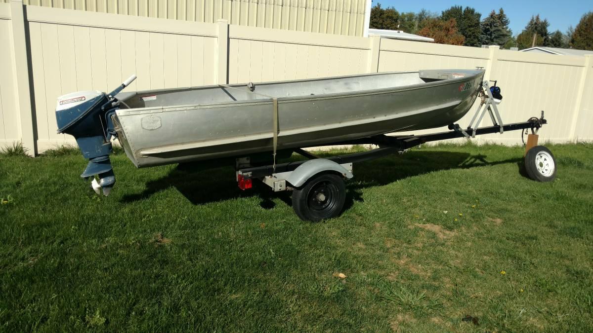 14ft 1955 aero craft q aerocraft boats for Used aluminum fishing boats on craigslist